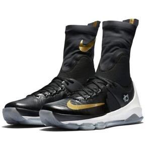 d73c076e238b NIKE KD 8 VIII Elite Black Gold Basketball Shoes 834185 071 Mens ...