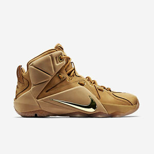 finest selection d6dfb 7f254 Image is loading Nike-LeBron-12-XII-EXT-Wheat-Size-13-