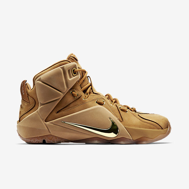 efbf678bb8f Nike Lebron 12 XII EXT Wheat Size 13. 744287-700 Kyrie Cork What The BHM  Elite for sale online
