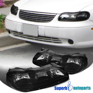 Image Is Loading 97 03 Chevy Malibu Black Replacement Headlights Driving