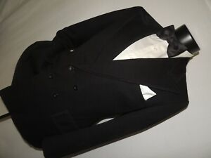 Vintage-1950-039-s-Double-Breasted-Formal-tuxedo-jacket-36-Short