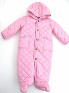 8033feeb0 RALPH LAUREN JUNIOR BABY GIRL PUFFER DOWN SNOW SUIT WINTER CODE O30 ...
