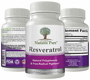 Resveratrol 1400mg 90 Capsules 45 Day Supply Japanese Knotweed Quercetin Acai ++