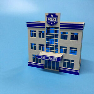 1-87-HO-Scale-Outland-Police-Office-Staion-Government-Building-Morden-Model