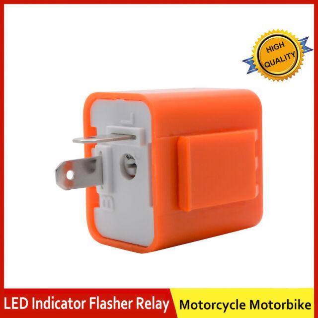 Turn Signal Flasher Blinker Relay DC 12V 2 Pin Fit Motorbike LED Indicator Light