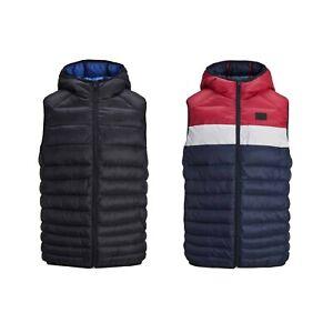 Kids-Jack-amp-Jones-Gilet-Jacket-Body-Warmer-Sleeveless-Outwear-Coat-9-to-16-Years