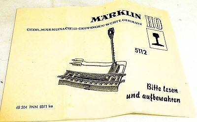 5112 Märklin Istruzioni 68 504 Tnn 0371 Ka # Å Imballaggio Di Marca Nominata