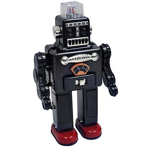 SMOKING-ROBOT-Retro-Tin-Collectable-Ornament-Dark-Grey-TTR2011DG