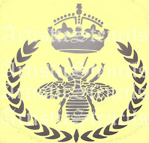 Sm Stencil Royal Queen Honey Bee Country Cottage Chic Garden French Pillow Sign