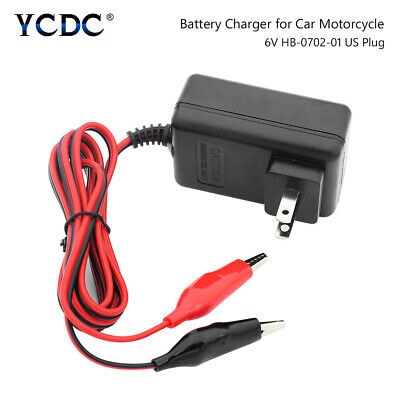 New 6V Volt 500MA Sealed Lead Acid Rechargeable Battery Charger US Plug