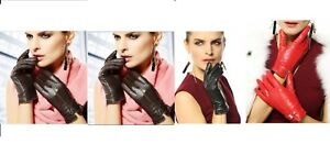 Women-Ladies-Girls-Leather-gloves-Winter-Driving-Party-Formal-Office-New-Fashion