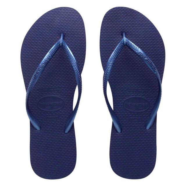 e2ac21e29b1 Havaianas Ladies Flip Flops Slim Beach Sandals All Size Black White ...