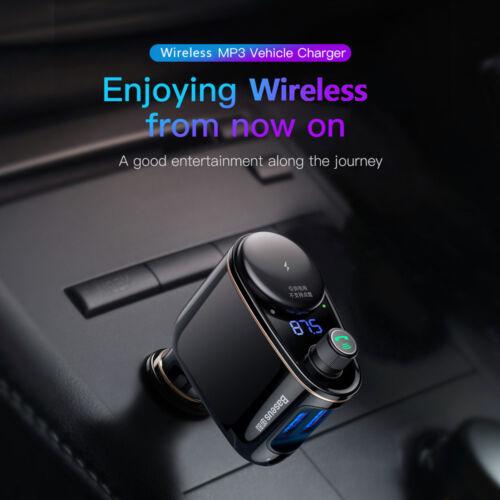 Baseus Dual USB 3.4A Car Charger Wireless BT4.2 FM Transmitter Car MP3 player