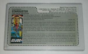 *CUSTOM* 1987 GI Joe Starduster Figure Mail Away Full Uncut Red Back File Card