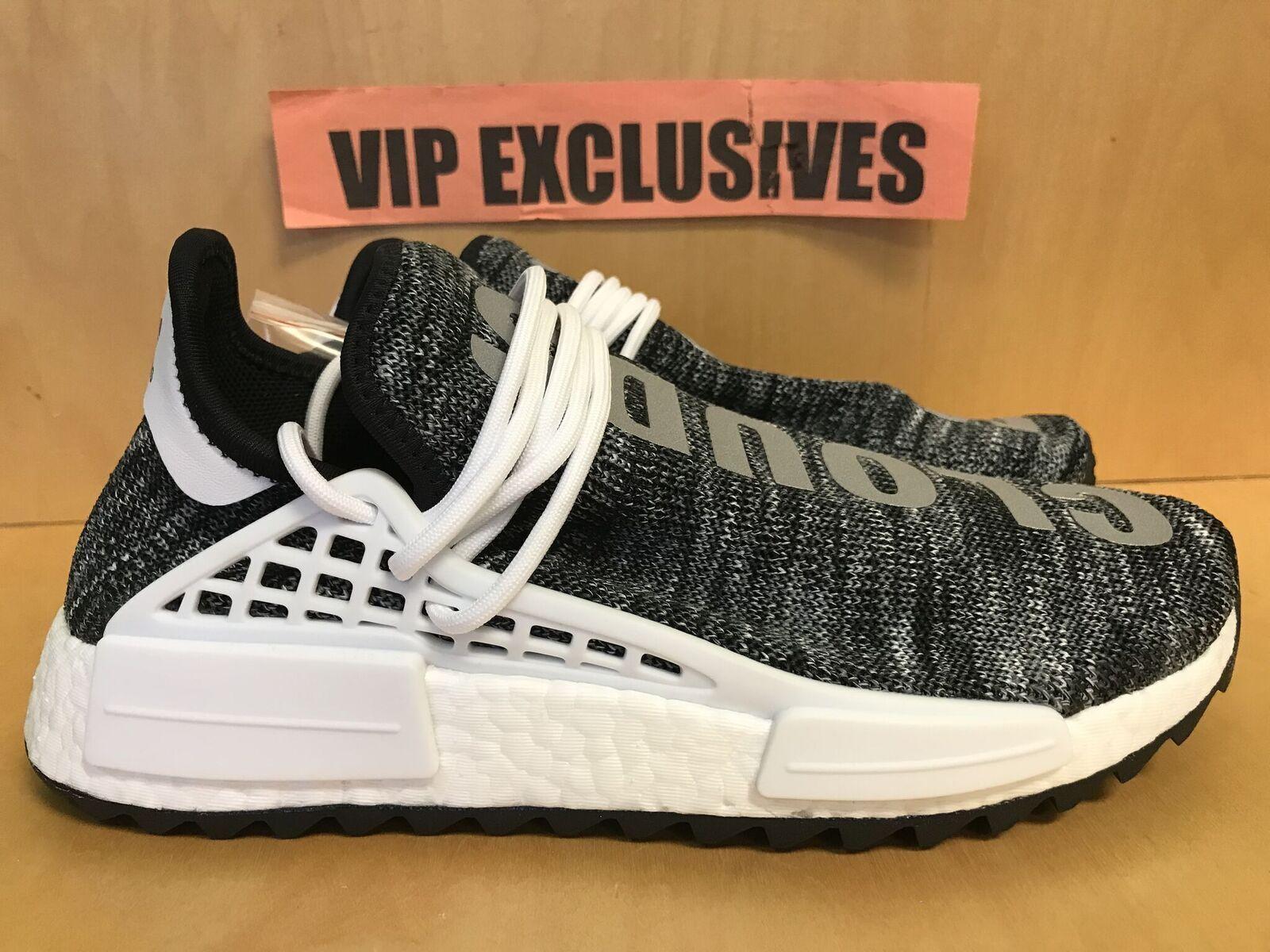 Adidas NMD Human Race Trail Pharrell Williams Black White Hu Cloud Oreo AC7359