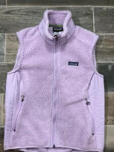 Patagonia Synchilla Ladies Medium Fleece Vest Color Light