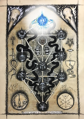 Ultra Psychofruits Of Qliphoth Thaumiel Hyper Ritual Sigil On Paper Ebay This symbol has been transformed entirely to a 'harmless' sign of rock 'n' roll expression. ultra psychofruits of qliphoth thaumiel hyper ritual sigil on paper ebay