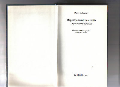 Belletristik Bücher Gewidmet Depesche Aus Dem Jenseits SchüTtelfrost Und Schmerzen
