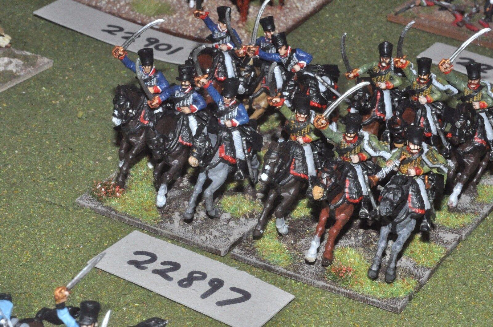 25mm napoleonic   prussian - hussars (plastic) 12 figures - cav (22897)