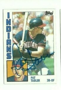 Pat Tabler 1984 Topps autographed auto signed card Indians