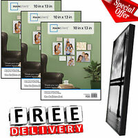 Photo Frame Set Of 3 10x13 Format Lot Wall Art Home Decor Black Picture Frames