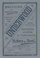 Y2120 Macchine per scrivere UNDERWOOD - Pubblicità del 1903 - Old advertising