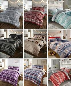 BRAND-NEW-WARM-amp-SOFT-BRUSHED-COTTON-COSY-FLANNELETTE-QUILT-COVER-BED-SETS