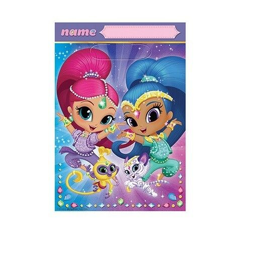 Shimmer & Shine Birthday Party Supplies Loot Lolly Treat Bags- Pack of 8