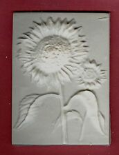 Flower tile #4: Sunflower plaster of paris painting project. Single tile.
