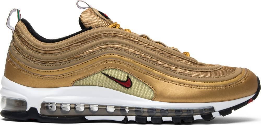 Nike Air Max 97 OG or métallisé drapeau italien Italie or AJ8056-700 Authentic