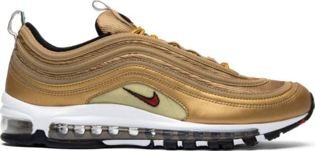 c71f878147 Details about Nike Air Max 97 OG QS Metallic Gold Varsity Red 884421-700 &  GS 100%AUTHENTIC