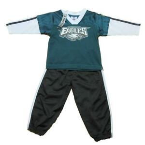 the latest acd3d a5c41 Details about NEW NFL Toddler Philadelphia Eagles Outfit Size 2T-4T Boys  Nylon Sweatsuit