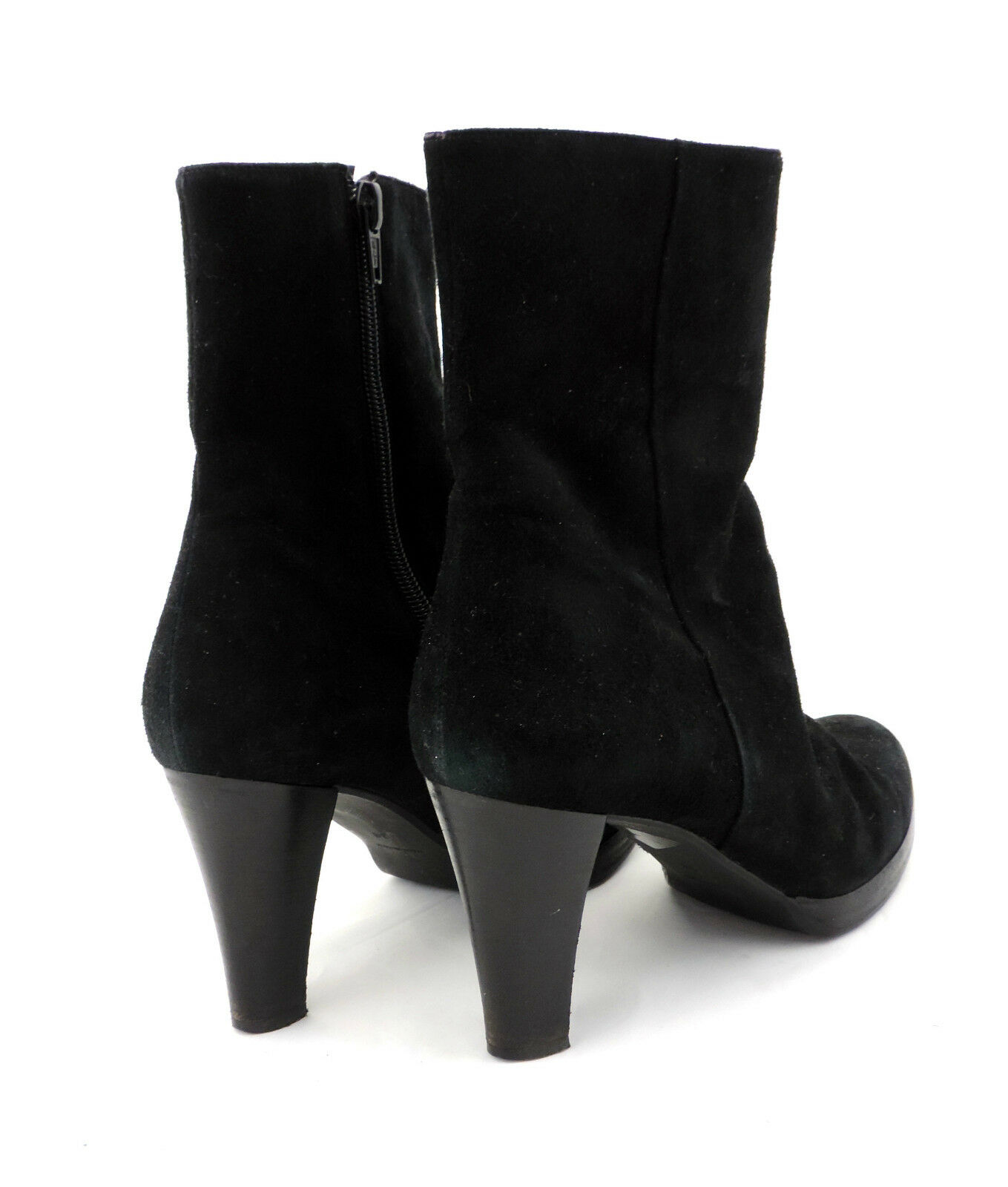 Denkstein schwarz Stiefelette 38 schwarz Denkstein Wildleder high heels top booties 77a81d