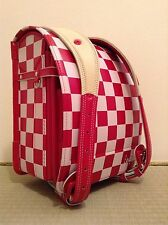Randoseru Clarino Red square block type Angel wing Japanese school bag Japan #10