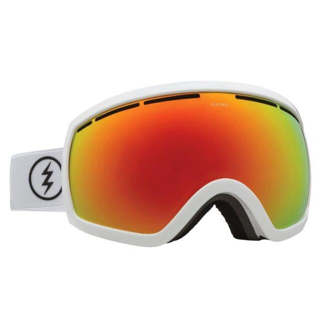 a4f65ea9f9f Electric Visual EG2 Gloss White Snowboarding Goggles (Brose   Red Chrome)