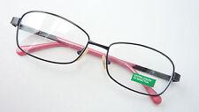 Brillengestell Brille Fassung schwarz rosa Damen Benetton stabil lunettes size M