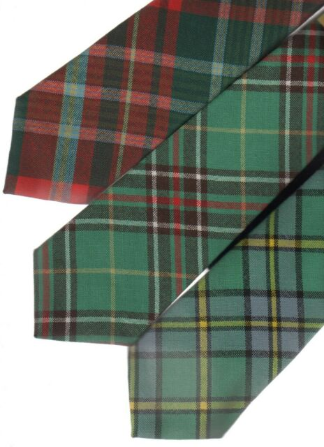 Mens Tie All Wool Made in Scotland Prince Edward Island Canadian Tartan