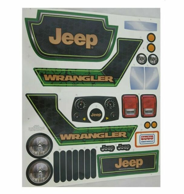 Power Wheels X6645 0310 Decal Sheet For Jeep Hurricane For Sale