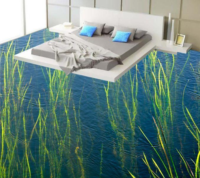 3D Erba Acqua 218 Pavimento Foto Wallpaper Murales Muro Stampa Decalcomania