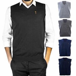 super popolare 9aade bc030 Gilet uomo maglione basic smanicato pullover casual scollo V ...