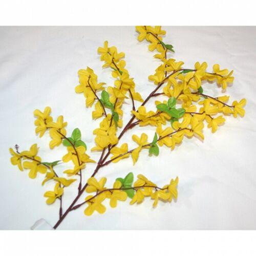 65cm neu schöner Forsythien Zweig mit ca 70 Blüten