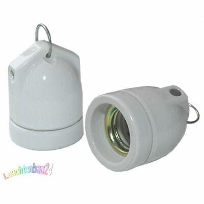 Volitivo Porcellana/ceramica-sospesa Versione, Versione E27 Bianco 3-tlg Typ:990009-mostra Il Titolo Originale