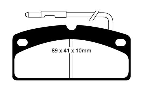 EBC Blackstuff Bremsbeläge Vorderachse DP1342 für Aixam CROSSLINE