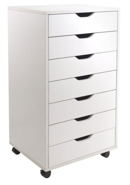 Cabinets And Storage Solutions With 7 Drawers Rolling Cart Units White On  Wheels | EBay