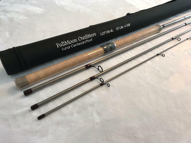 Super Printemps VENTE  FMO Lunar Series Centerpin Float Rod 13' 4pc truite arc-en-ciel