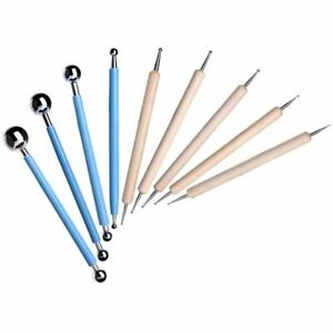 9-Piece-Ball-Stylus-Dotting-Modeling-Tools-Clay-Ceramics-Pottery-Carving-To