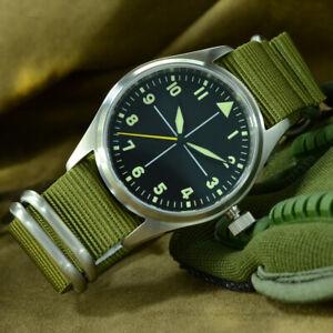 San-Martin-Men-039-s-Pilot-Automatic-Watch-200m-Water-Resistance-NH35-Sapphire-Glass