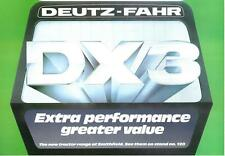 "DEUTZ FAHR DX3 TRACTOR - ""EXTRA PERFORMANCE GREATER VALUE"" BROCHURE - BXF12"