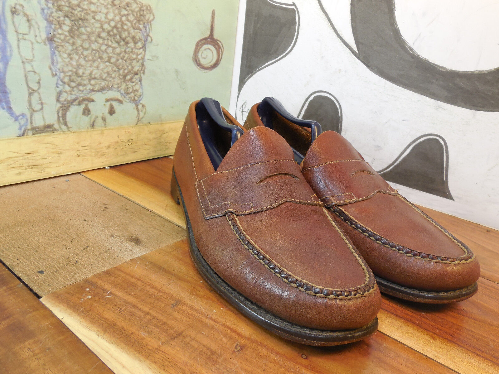 G. H. Bass & Co Brown Leather 9.5BB Penny Loafers