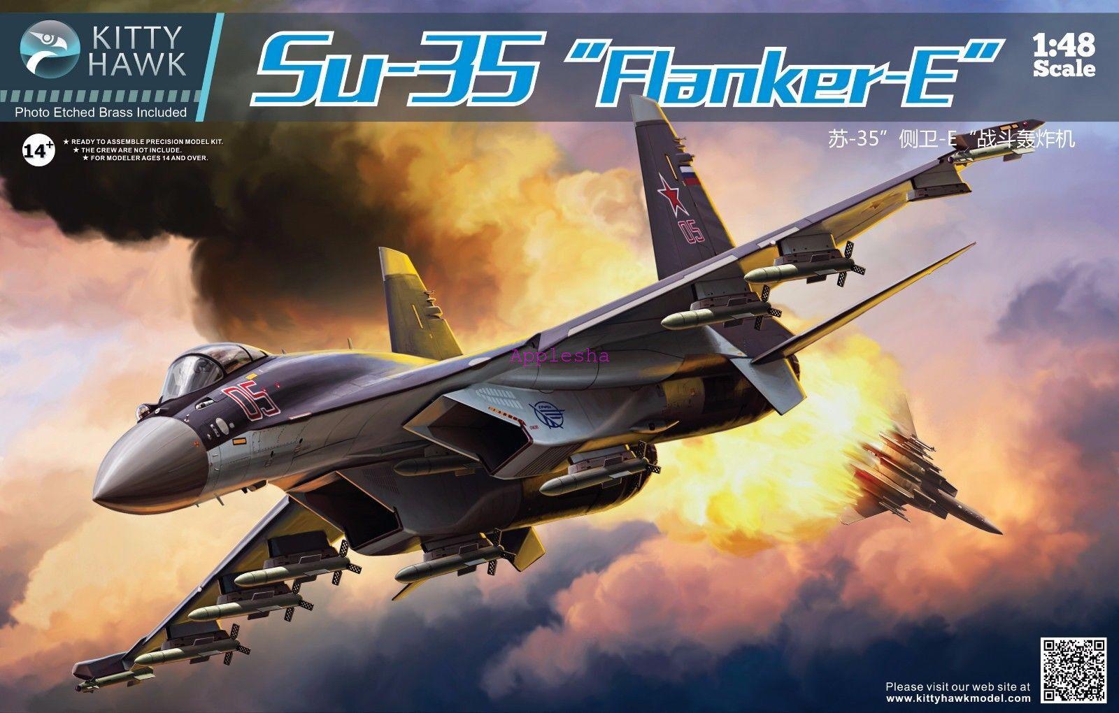 Kitty Hawk 80142 1 48 Su-35 Flanker E New
